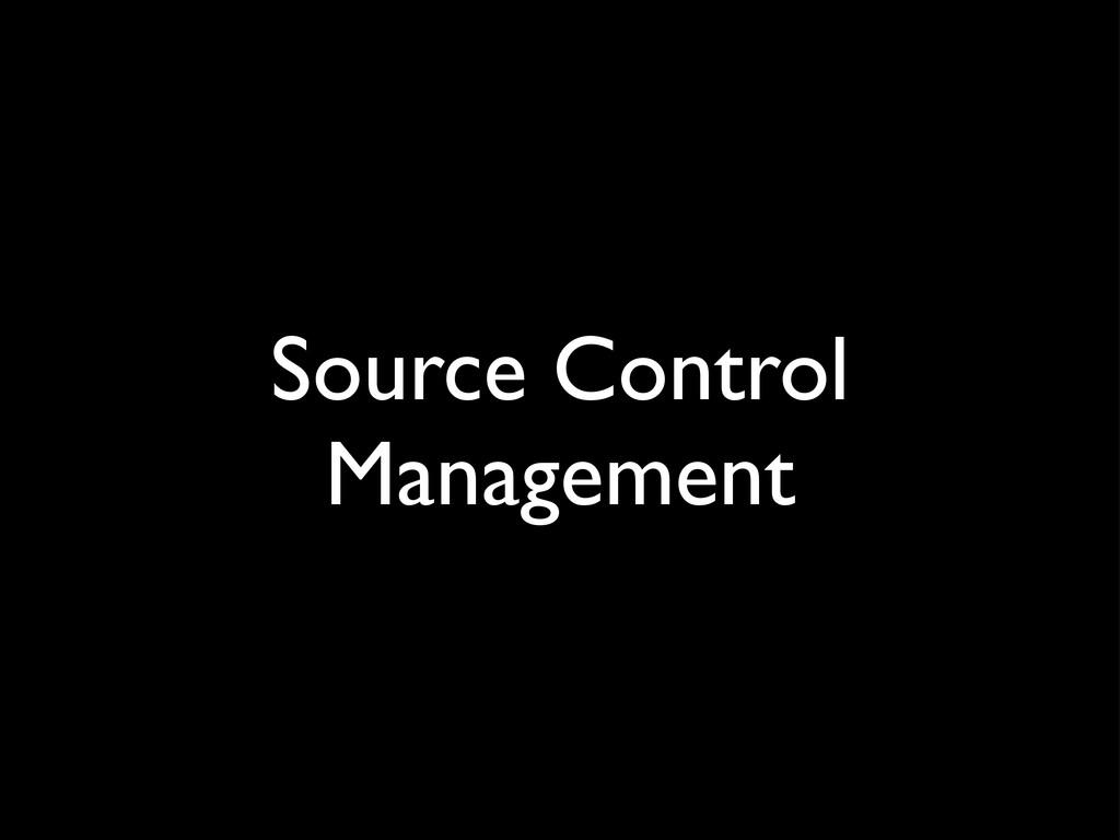 Source Control Management