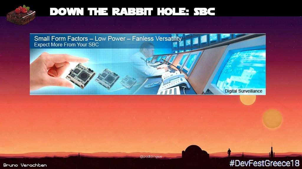 Bruno Verachten 52 Down the rabbit hole: SBC