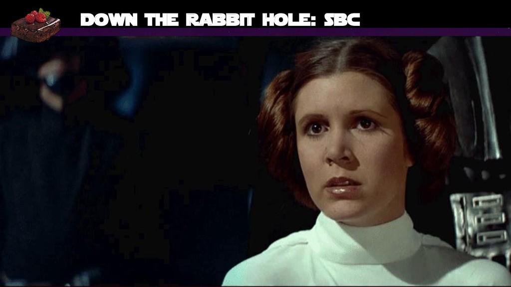 Bruno Verachten 54 Down the rabbit hole: SBC