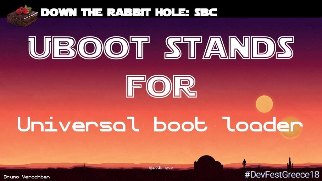 Bruno Verachten 55 Down the rabbit hole: SBC Ub...