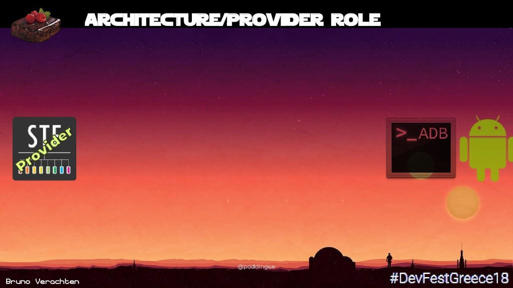 Bruno Verachten 22 Architecture/Provider role