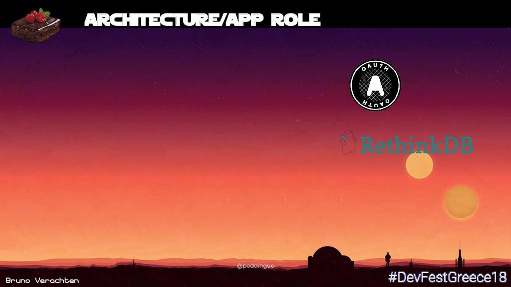 Bruno Verachten 23 Architecture/App role
