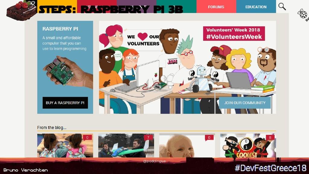 Bruno Verachten 34 steps : Raspberry Pi 3B