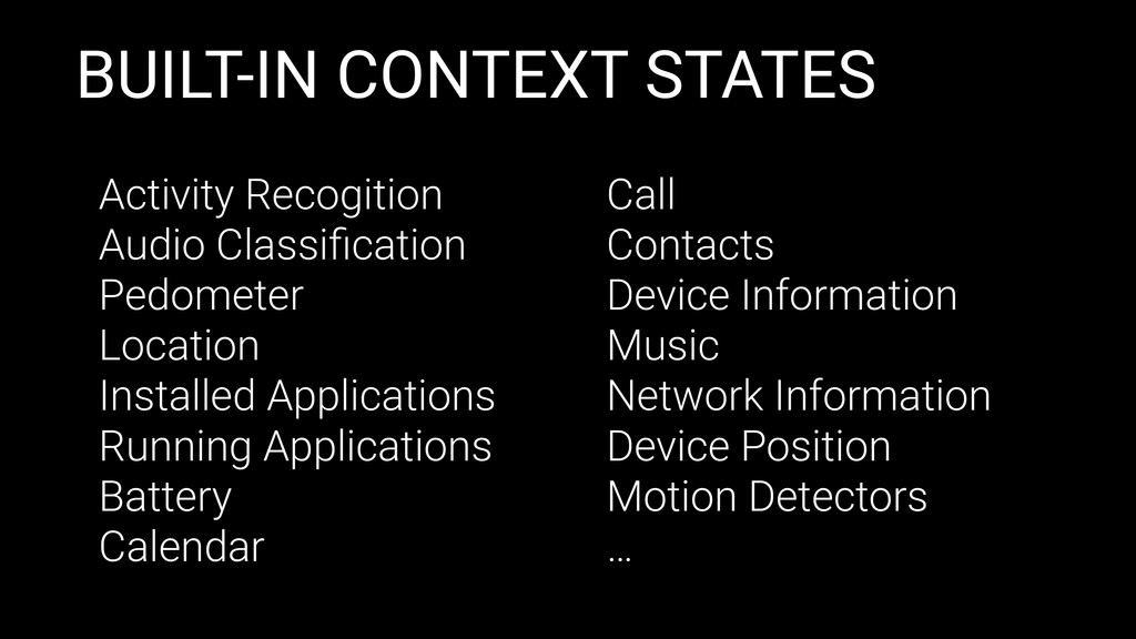 BUILT-IN CONTEXT STATES Activity Recogition Aud...