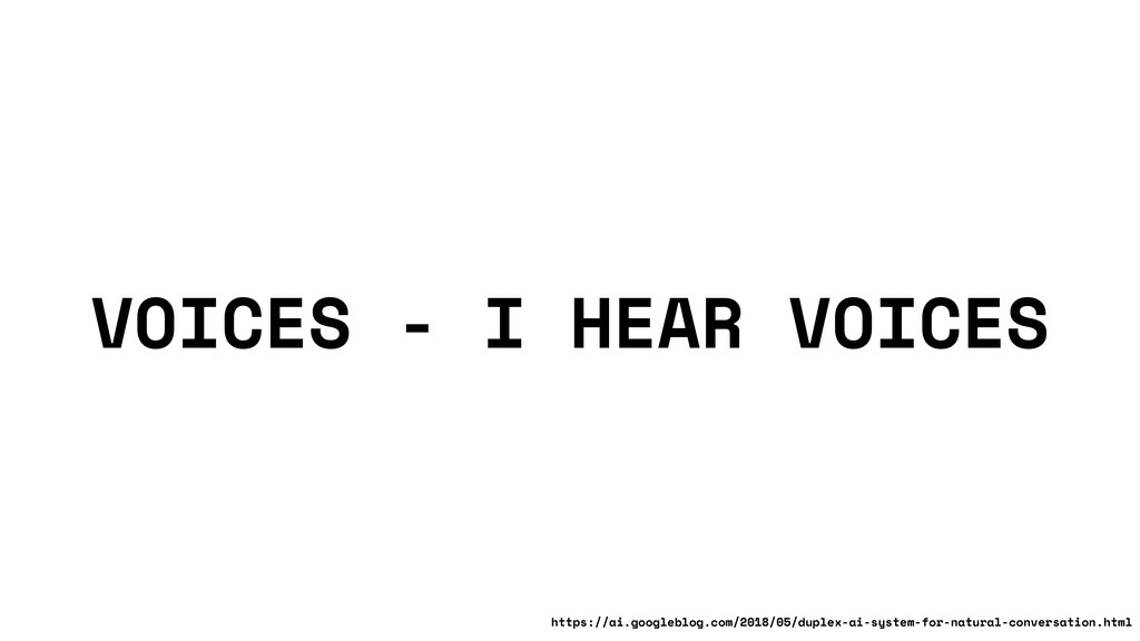 VOICES - I HEAR VOICES https://ai.googleblog.co...
