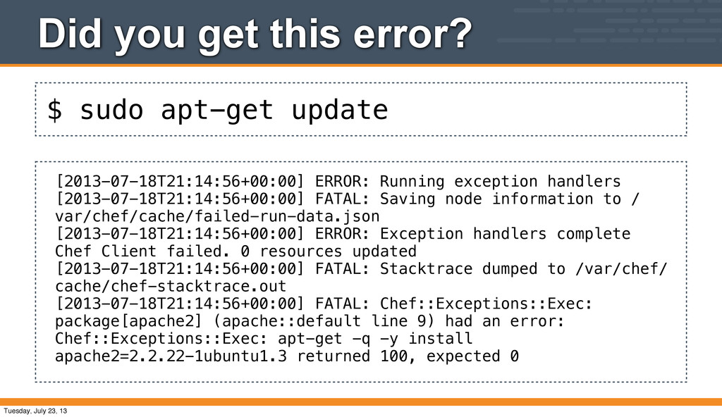$ sudo apt-get update Did you get this error? [...