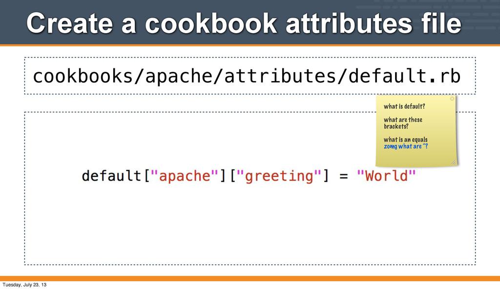 cookbooks/apache/attributes/default.rb Create a...
