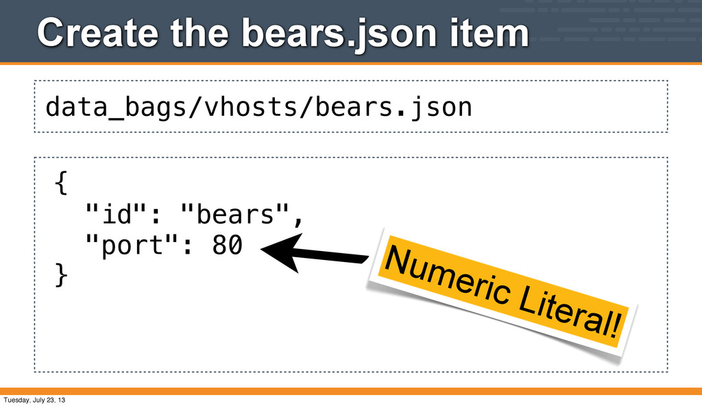 data_bags/vhosts/bears.json Create the bears.js...