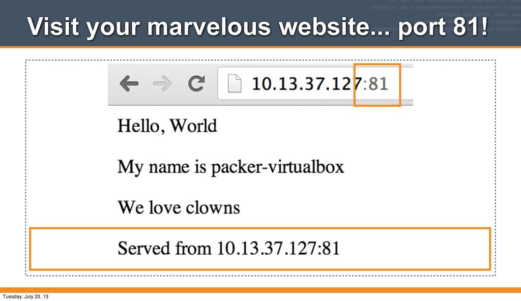 Visit your marvelous website... port 81! Tuesda...
