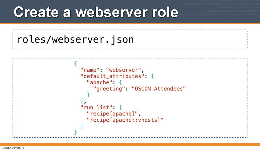 roles/webserver.json Create a webserver role Tu...