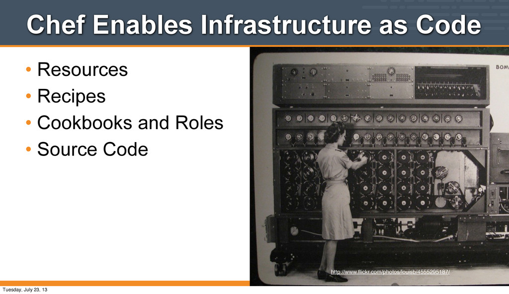 Chef Enables Infrastructure as Code • Resources...