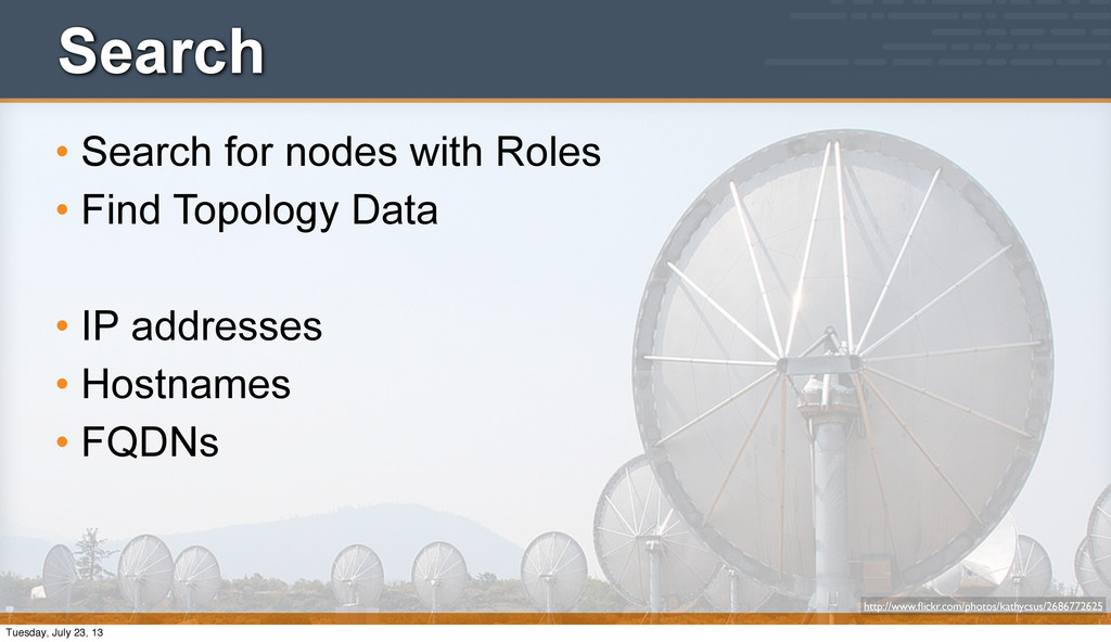 Search • Search for nodes with Roles • Find Top...