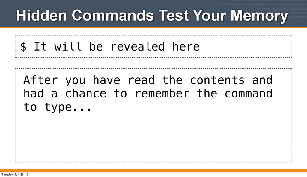 $ It will be revealed here Hidden Commands Test...
