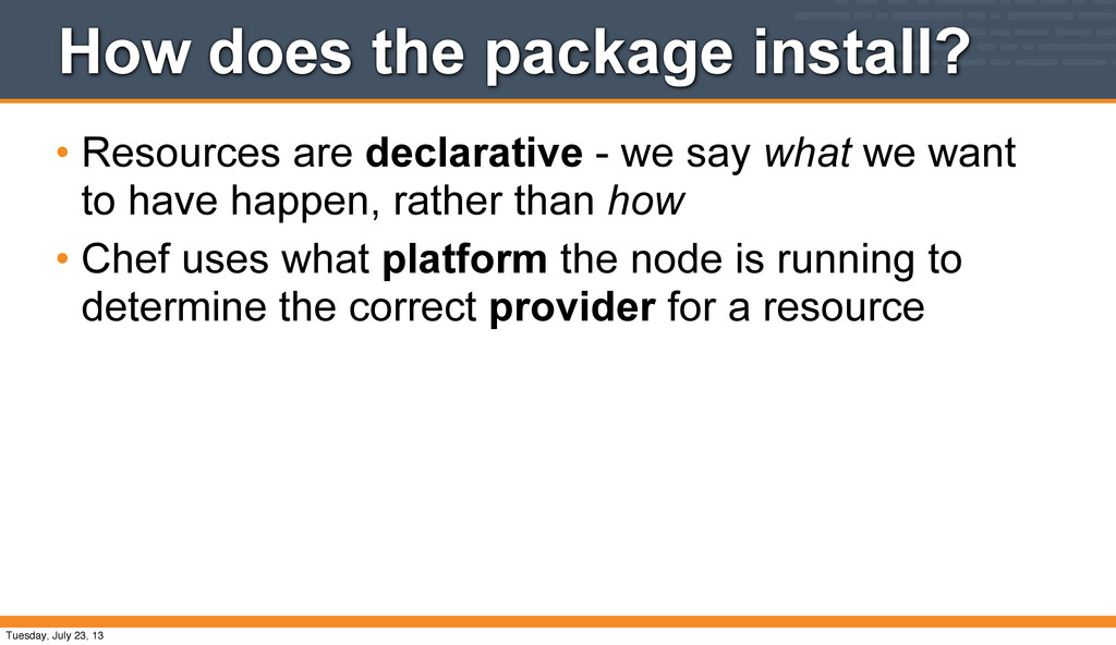 How does the package install? • Resources are d...