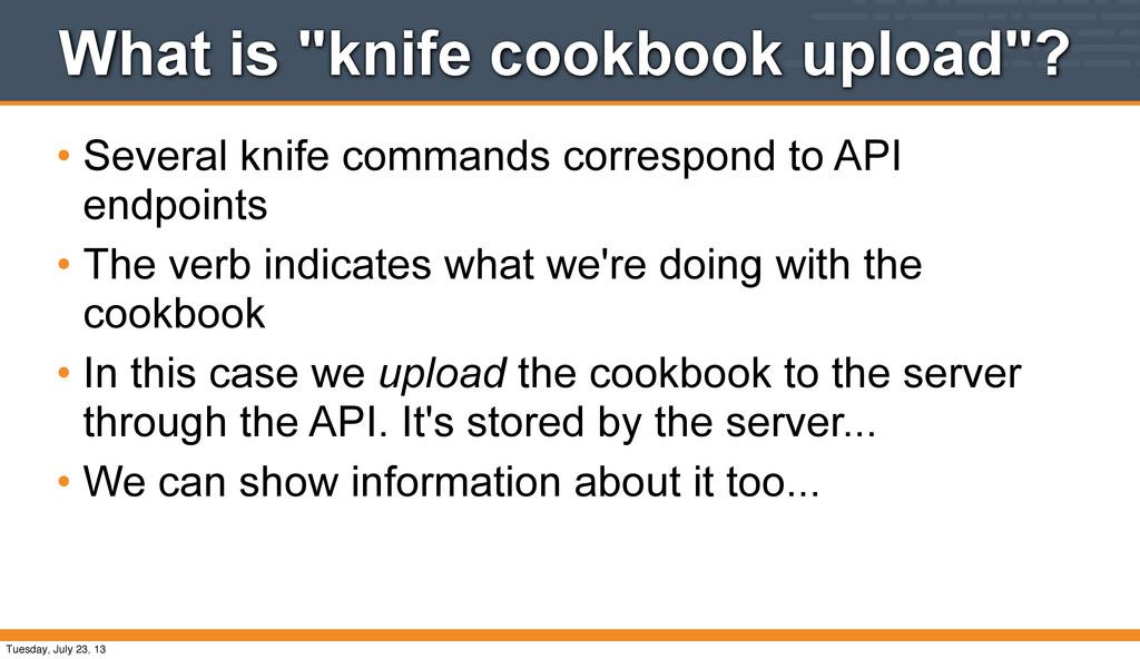 "What is ""knife cookbook upload""? • Several knif..."