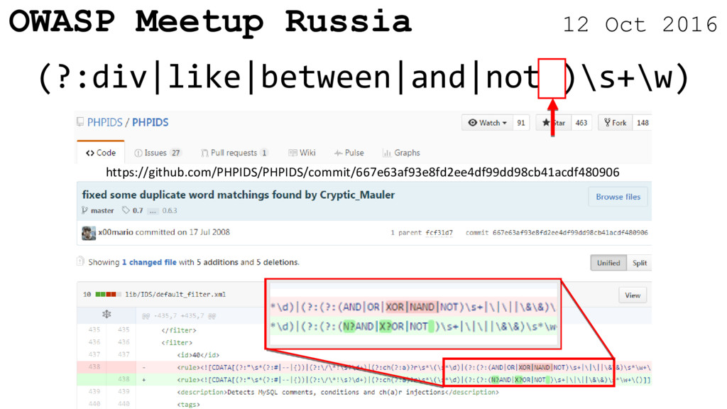OWASP Meetup Russia 12 Oct 2016 (?:div|like|bet...