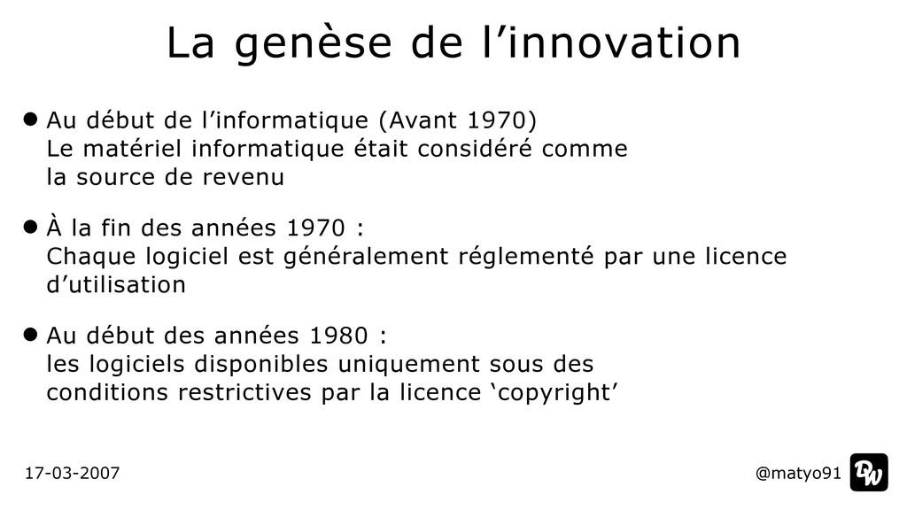 Au début de l'informatique (Avant 1970)  Le ma...