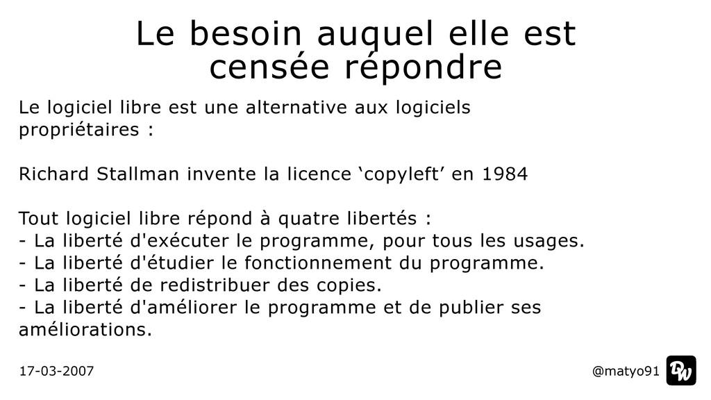 Le logiciel libre est une alternative aux logic...