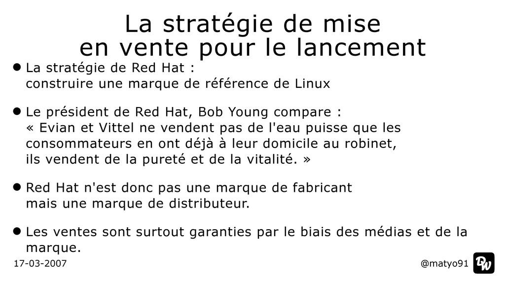 La stratégie de Red Hat :  construire une marq...
