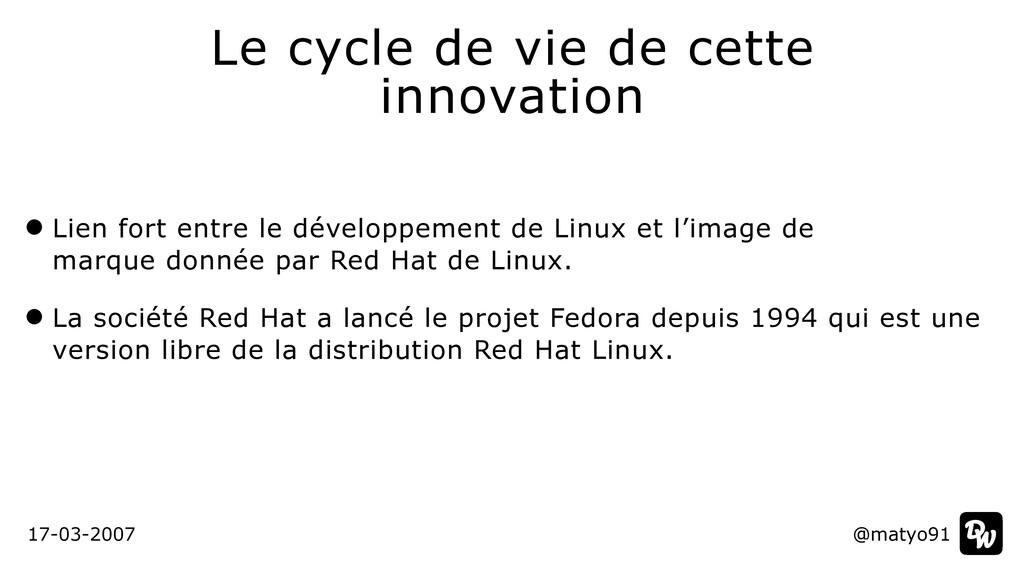 Lien fort entre le développement de Linux et l'...