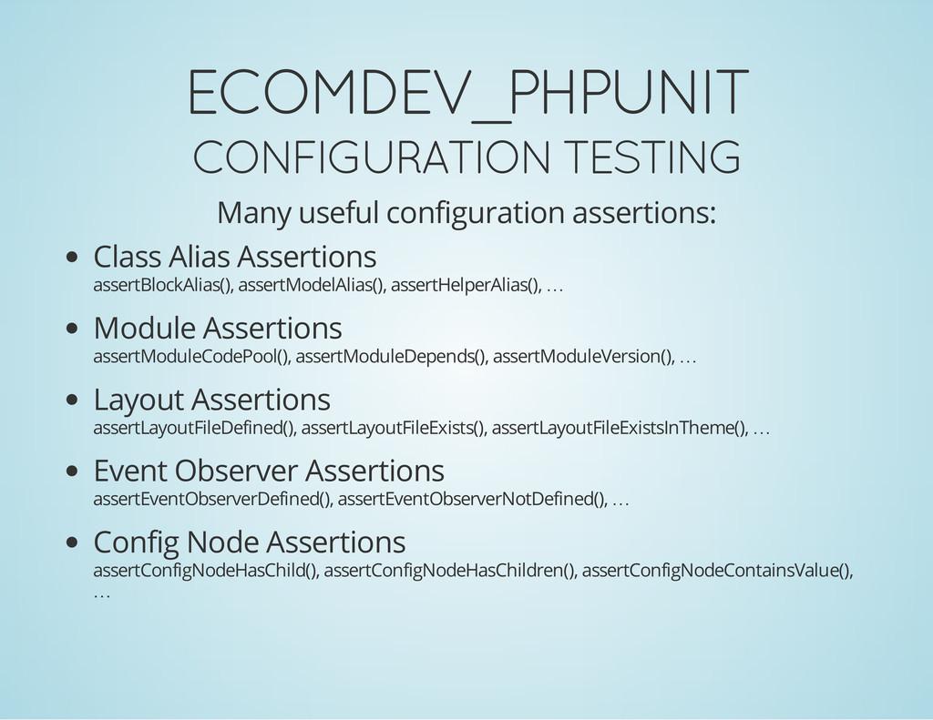 ECOMDEV_PHPUNIT CONFIGURATION TESTING Many usef...
