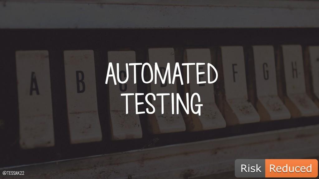 AUTOMATED TESTING @tessak22