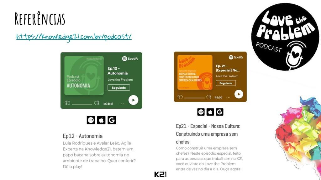 Referências https://knowledge21.com.br/podcast/