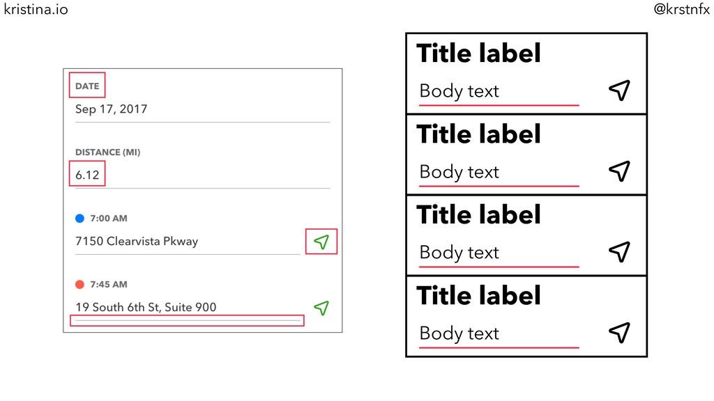 @krstnfx kristina.io Title label Body text Titl...