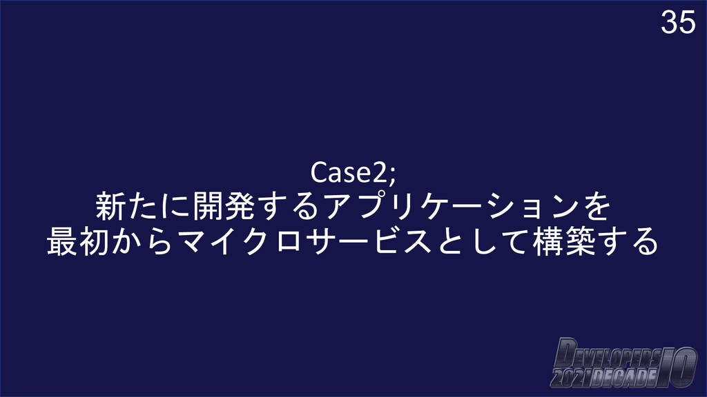 35 Case2; 新たに開発するアプリケーションを 最初からマイクロサービスとして構築する