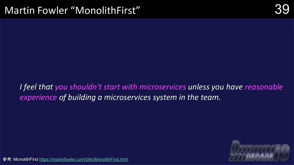 I feel that you shouldn't start with microservi...