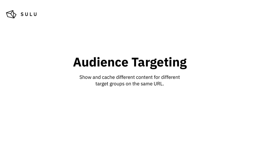 Audience Targeting Show and cache different con...