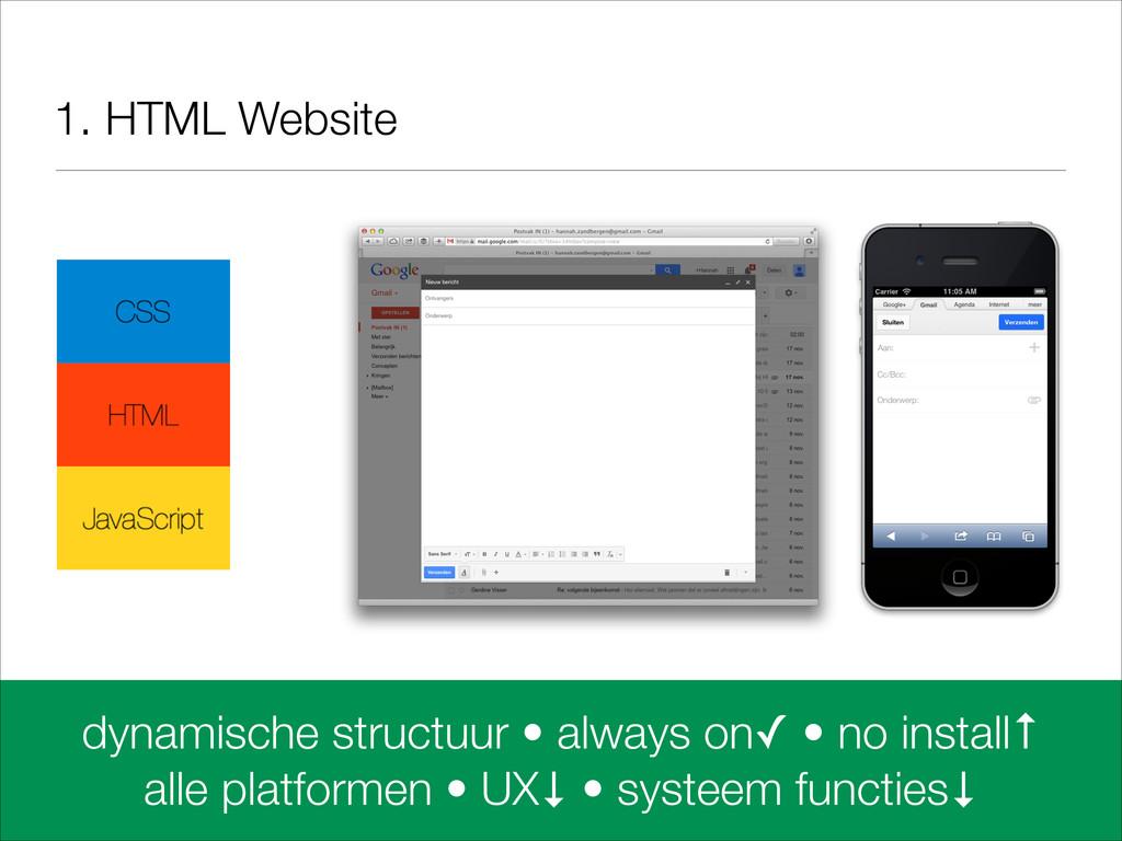 1. HTML Website dynamische structuur • always o...