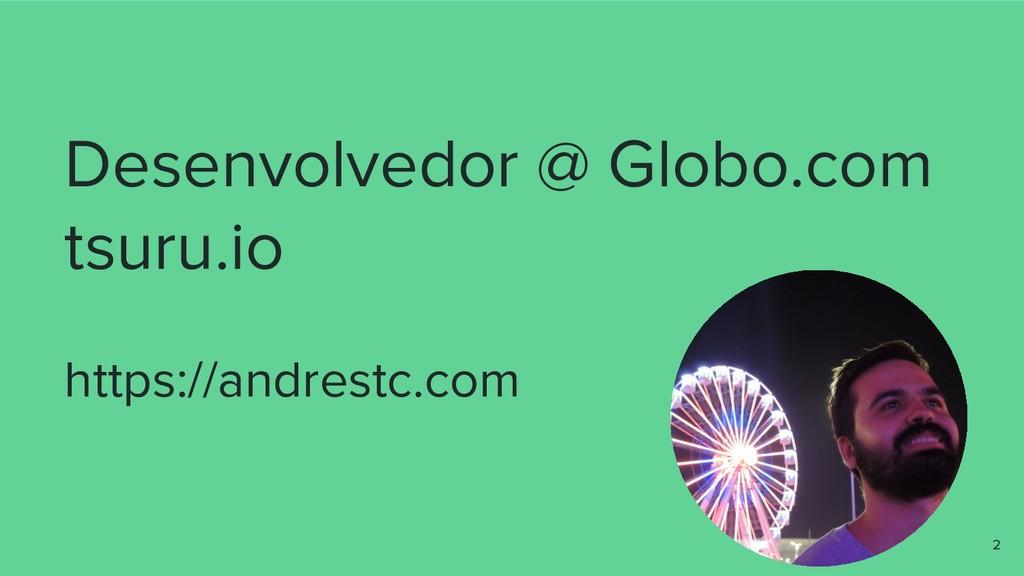 Desenvolvedor @ Globo.com tsuru.io https://andr...