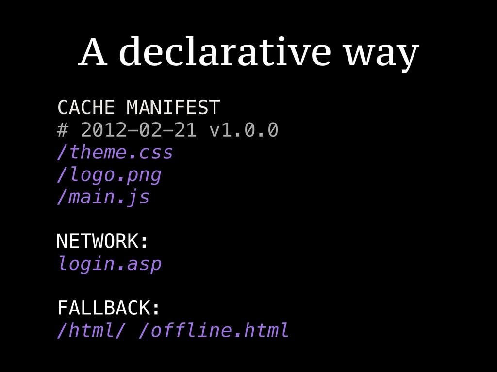 A declarative way CACHE MANIFEST # 2012-02-21 v...