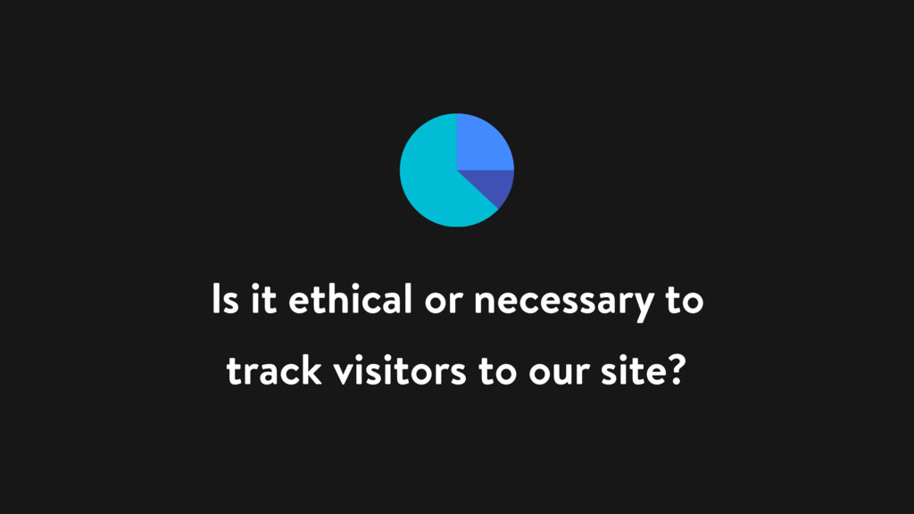 Is it ethical or necessary to track visitors to...