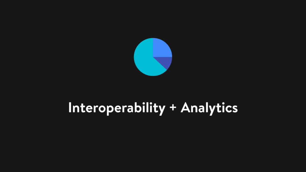 Interoperability + Analytics