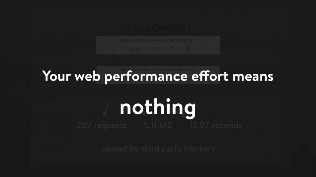 Your web performance effort means nothing