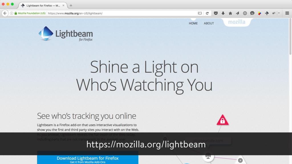 https://mozilla.org/lightbeam