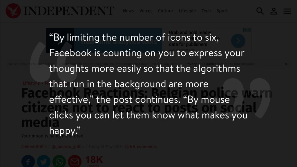 """ ""By limiting the number of icons to six, Face..."