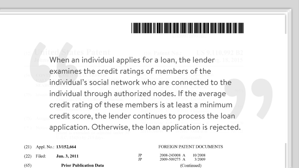""" When an individual applies for a loan, the le..."