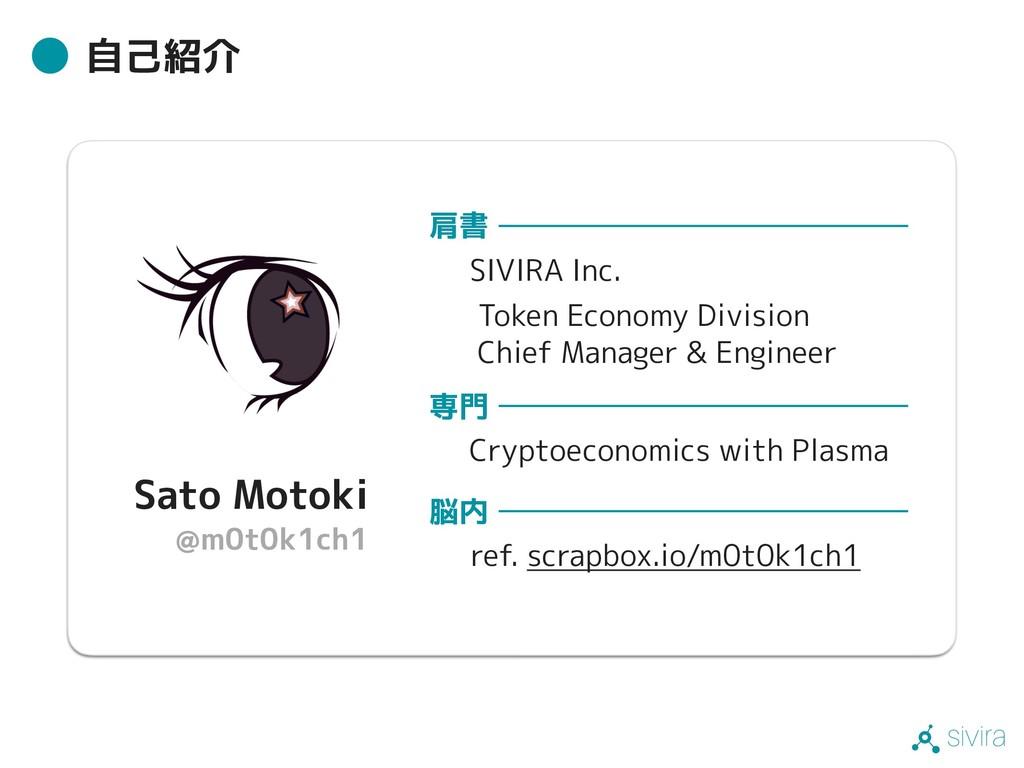 sivira 自己紹介 肩書 SIVIRA Inc. Token Economy Divisi...