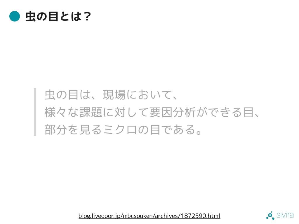 sivira 虫の目とは? blog.livedoor.jp/mbcsouken/archiv...