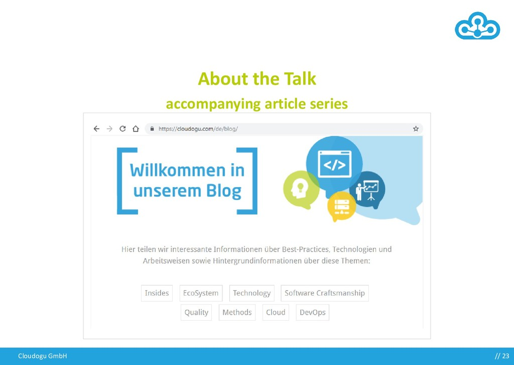 Cloudogu GmbH About the Talk accompanying artic...