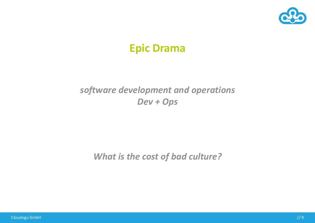 Cloudogu GmbH // 9 Epic Drama software developm...