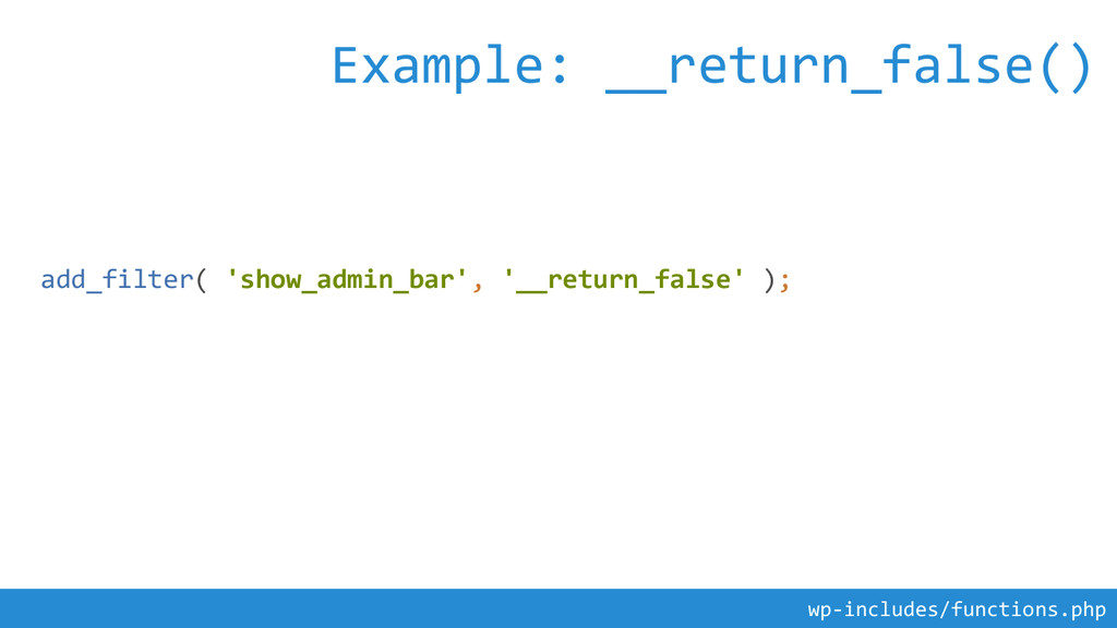 add_filter( 'show_admin_bar', '__return_false' ...