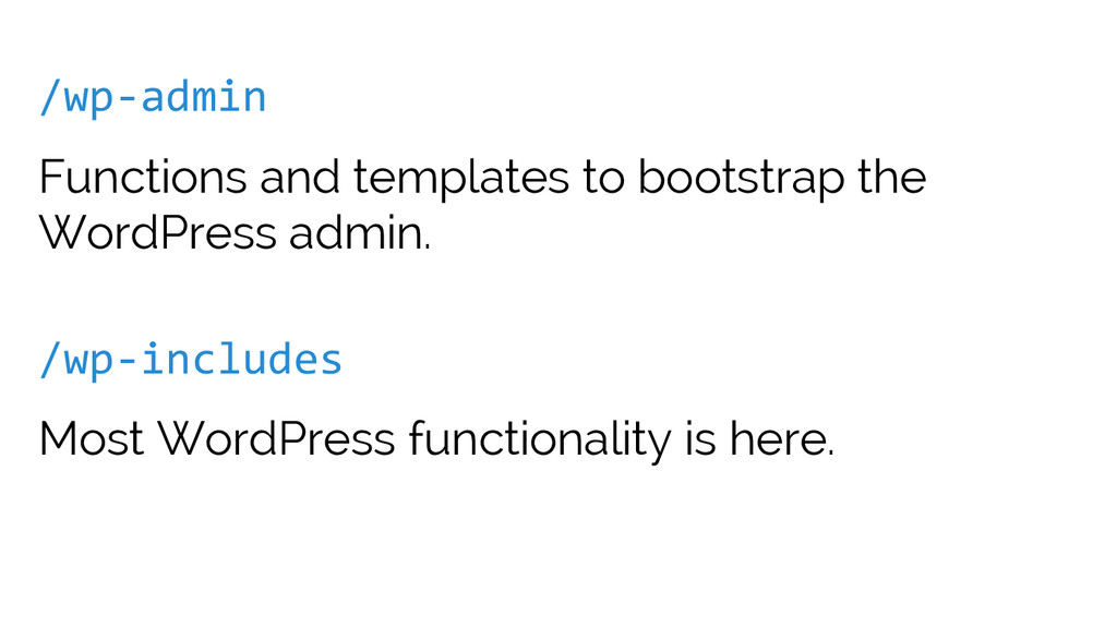 /wp-admin Functions and templates to bootstrap ...
