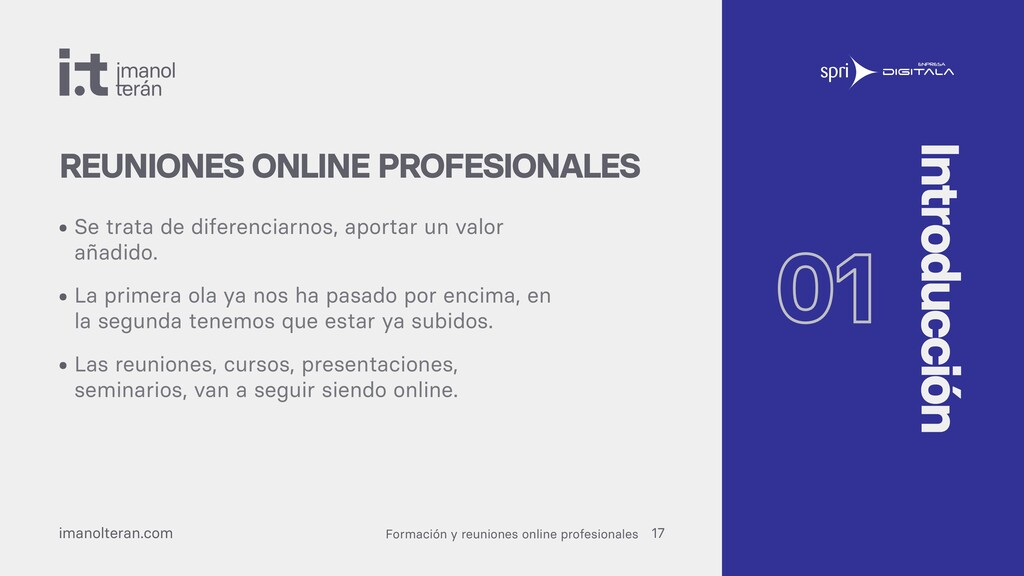Formación y reuniones online profesionales iman...