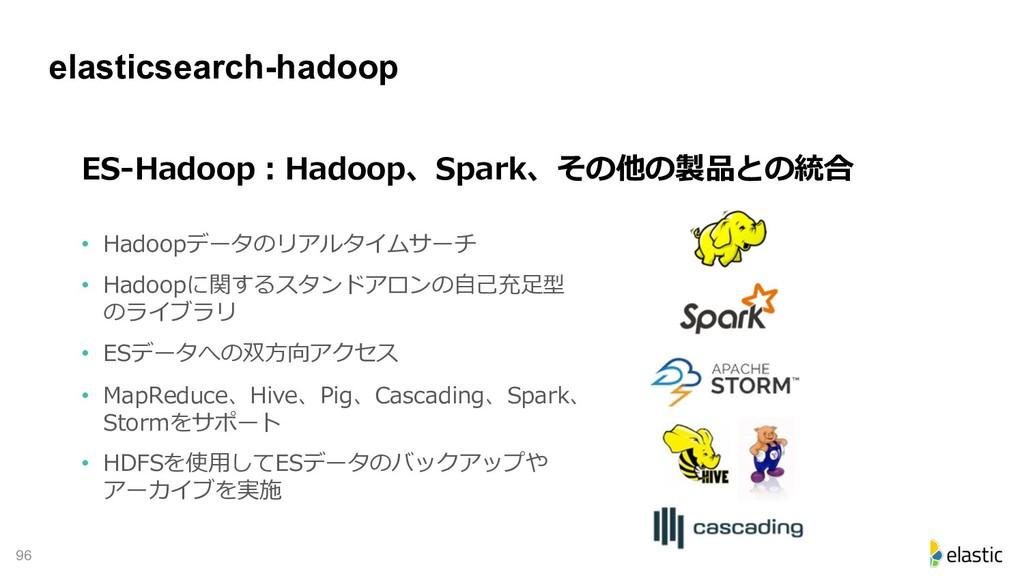 !96 elasticsearch-hadoop - • D E H • PD ecd E...