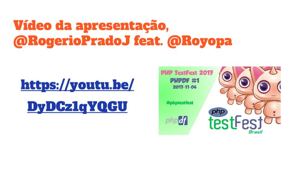 Vídeo da apresentação, @RogerioPradoJ feat. @Ro...