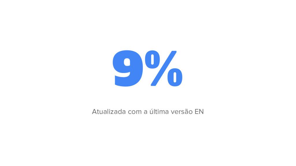 9% Atualizada com a última versão EN
